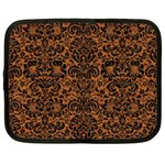 DAMASK2 BLACK MARBLE & RUSTED METAL Netbook Case (XXL)  Front
