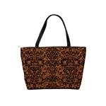 DAMASK2 BLACK MARBLE & RUSTED METAL Shoulder Handbags Back