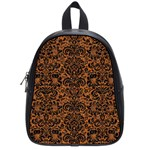 DAMASK2 BLACK MARBLE & RUSTED METAL School Bag (Small) Front