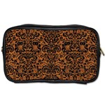 DAMASK2 BLACK MARBLE & RUSTED METAL Toiletries Bags Front