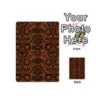 DAMASK2 BLACK MARBLE & RUSTED METAL Playing Cards 54 (Mini)  Back