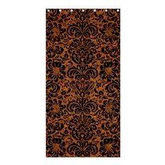 Damask2 Black Marble & Rusted Metal Shower Curtain 36  X 72  (stall)