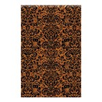 DAMASK2 BLACK MARBLE & RUSTED METAL Shower Curtain 48  x 72  (Small)  42.18 x64.8 Curtain