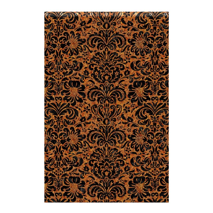 DAMASK2 BLACK MARBLE & RUSTED METAL Shower Curtain 48  x 72  (Small)
