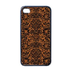 Damask2 Black Marble & Rusted Metal Apple Iphone 4 Case (black)