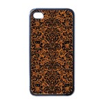 DAMASK2 BLACK MARBLE & RUSTED METAL Apple iPhone 4 Case (Black) Front