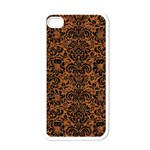 DAMASK2 BLACK MARBLE & RUSTED METAL Apple iPhone 4 Case (White) Front