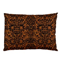 Damask2 Black Marble & Rusted Metal Pillow Case (two Sides)