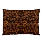 DAMASK2 BLACK MARBLE & RUSTED METAL Pillow Case (Two Sides) Front