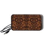 DAMASK2 BLACK MARBLE & RUSTED METAL Portable Speaker Front