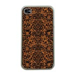 DAMASK2 BLACK MARBLE & RUSTED METAL Apple iPhone 4 Case (Clear) Front