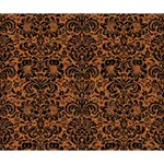 DAMASK2 BLACK MARBLE & RUSTED METAL Deluxe Canvas 14  x 11  14  x 11  x 1.5  Stretched Canvas