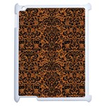 DAMASK2 BLACK MARBLE & RUSTED METAL Apple iPad 2 Case (White) Front