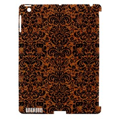 Damask2 Black Marble & Rusted Metal Apple Ipad 3/4 Hardshell Case (compatible With Smart Cover)