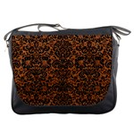 DAMASK2 BLACK MARBLE & RUSTED METAL Messenger Bags Front