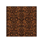 DAMASK2 BLACK MARBLE & RUSTED METAL Acrylic Tangram Puzzle (4  x 4 ) Front