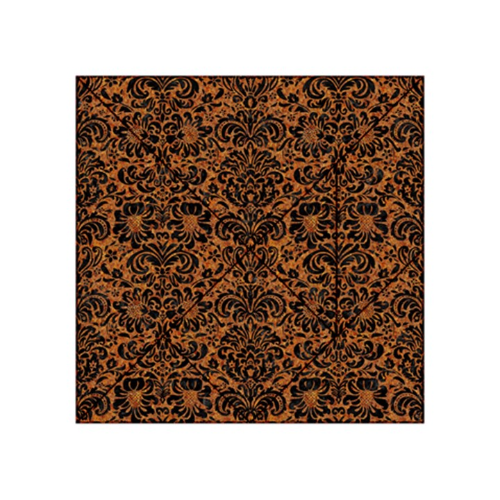 DAMASK2 BLACK MARBLE & RUSTED METAL Acrylic Tangram Puzzle (4  x 4 )