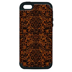 Damask2 Black Marble & Rusted Metal Apple Iphone 5 Hardshell Case (pc+silicone)