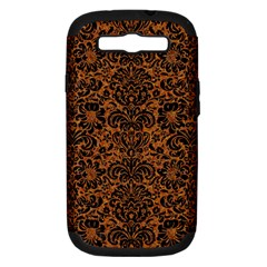 Damask2 Black Marble & Rusted Metal Samsung Galaxy S Iii Hardshell Case (pc+silicone)