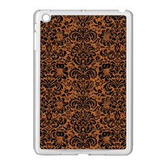 Damask2 Black Marble & Rusted Metal Apple Ipad Mini Case (white)