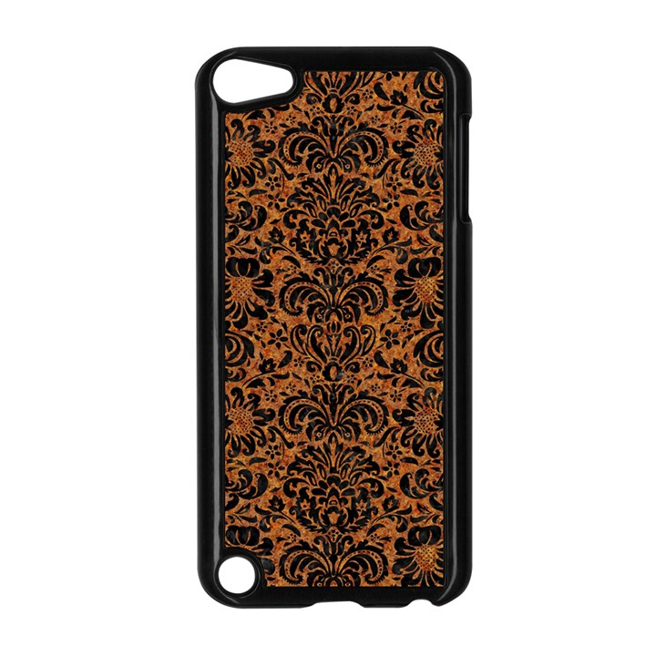 DAMASK2 BLACK MARBLE & RUSTED METAL Apple iPod Touch 5 Case (Black)