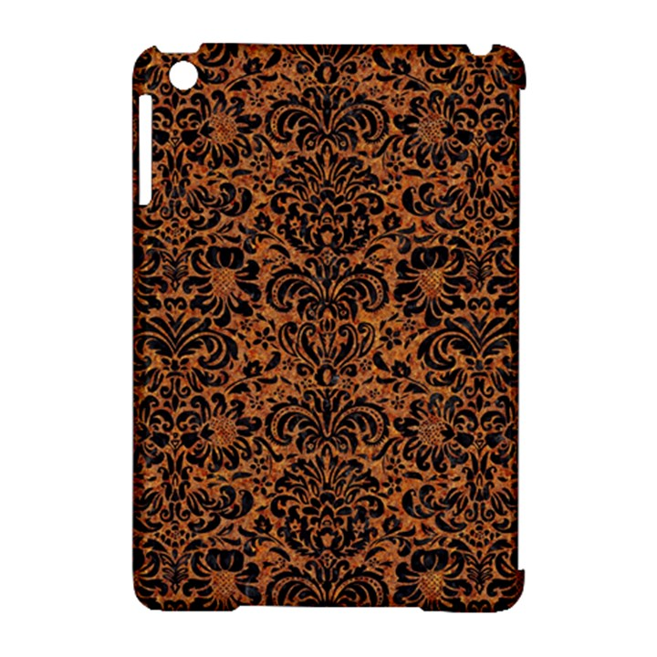 DAMASK2 BLACK MARBLE & RUSTED METAL Apple iPad Mini Hardshell Case (Compatible with Smart Cover)