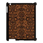 DAMASK2 BLACK MARBLE & RUSTED METAL Apple iPad 3/4 Case (Black) Front