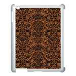 DAMASK2 BLACK MARBLE & RUSTED METAL Apple iPad 3/4 Case (White) Front