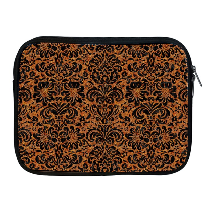 DAMASK2 BLACK MARBLE & RUSTED METAL Apple iPad 2/3/4 Zipper Cases