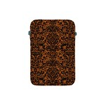 DAMASK2 BLACK MARBLE & RUSTED METAL Apple iPad Mini Protective Soft Cases Front