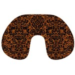 DAMASK2 BLACK MARBLE & RUSTED METAL Travel Neck Pillows Front