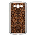 DAMASK2 BLACK MARBLE & RUSTED METAL Samsung Galaxy Grand DUOS I9082 Case (White) Front