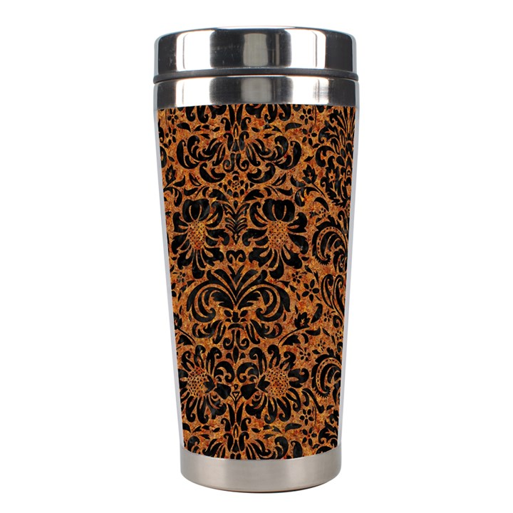 DAMASK2 BLACK MARBLE & RUSTED METAL Stainless Steel Travel Tumblers