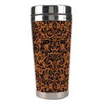 DAMASK2 BLACK MARBLE & RUSTED METAL Stainless Steel Travel Tumblers Right