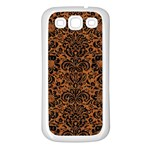 DAMASK2 BLACK MARBLE & RUSTED METAL Samsung Galaxy S3 Back Case (White) Front