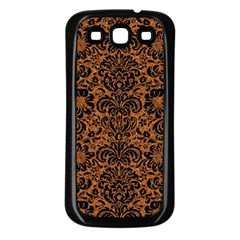 Damask2 Black Marble & Rusted Metal Samsung Galaxy S3 Back Case (black)