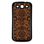 DAMASK2 BLACK MARBLE & RUSTED METAL Samsung Galaxy S3 Back Case (Black) Front