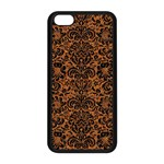 DAMASK2 BLACK MARBLE & RUSTED METAL Apple iPhone 5C Seamless Case (Black) Front