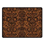 DAMASK2 BLACK MARBLE & RUSTED METAL Double Sided Fleece Blanket (Small)  45 x34 Blanket Front