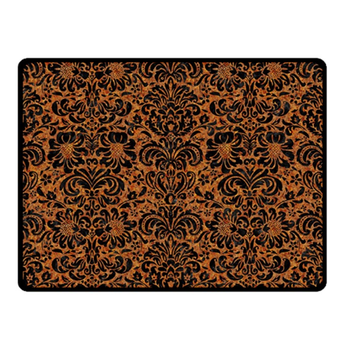DAMASK2 BLACK MARBLE & RUSTED METAL Double Sided Fleece Blanket (Small)