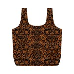 DAMASK2 BLACK MARBLE & RUSTED METAL Full Print Recycle Bags (M)  Back