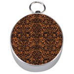DAMASK2 BLACK MARBLE & RUSTED METAL Silver Compasses Front