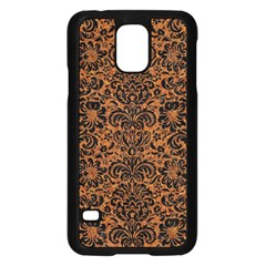 Damask2 Black Marble & Rusted Metal Samsung Galaxy S5 Case (black)