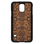 DAMASK2 BLACK MARBLE & RUSTED METAL Samsung Galaxy S5 Case (Black) Front