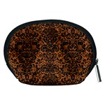 DAMASK2 BLACK MARBLE & RUSTED METAL Accessory Pouches (Medium)  Back