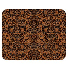Damask2 Black Marble & Rusted Metal Double Sided Flano Blanket (medium)