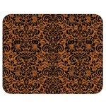 DAMASK2 BLACK MARBLE & RUSTED METAL Double Sided Flano Blanket (Medium)  60 x50 Blanket Front