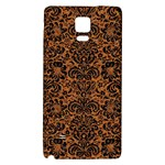 DAMASK2 BLACK MARBLE & RUSTED METAL Galaxy Note 4 Back Case Front