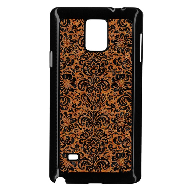 DAMASK2 BLACK MARBLE & RUSTED METAL Samsung Galaxy Note 4 Case (Black)