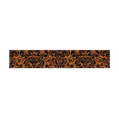 Damask2 Black Marble & Rusted Metal Flano Scarf (mini)